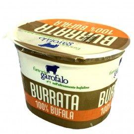 Burrata di Bufala 27% MG 125 g environ Garofalo