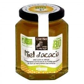 Miel d'acacia BIO, le pot de 375 g de Côté Miel