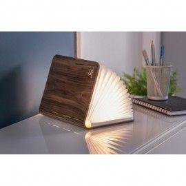 LAMPE LIVRE LUMINEUX EN BOIS DE NOYER