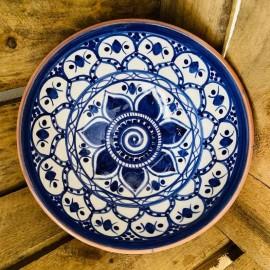 Saladier en terre cuite Fleur Bleue