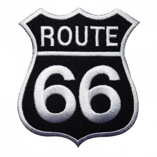 """ROUTE 66 / Badge en tissus à coller ou à coudre """"CDZOM"""""""