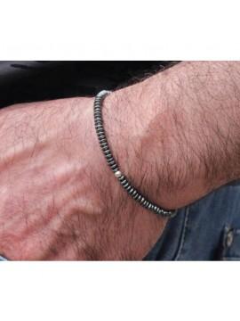 "Tiago / Bracelet Homme en Hématite ""CDZOM"""