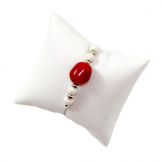 Bracelet Corail et lave