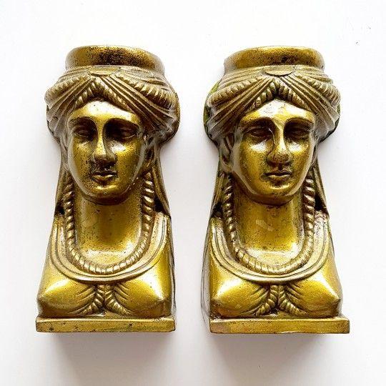 Cariatides en bronze - La paire