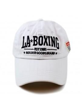 "Casquette coton blanc Los Angeles Boxing club ""CDZOM"""
