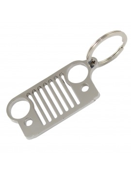 Porte-clés anneau inoxydable auto calandre Jeep