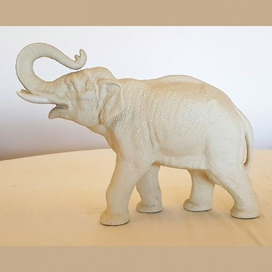 Eléphant blanc en céramique Art déco 1950/1960