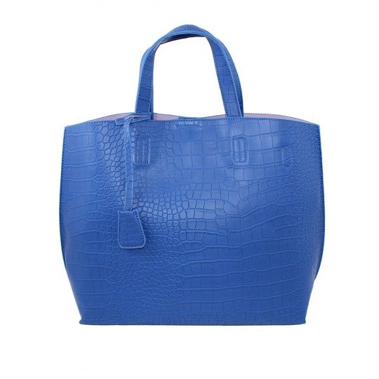 Sac à main shopping Bleu