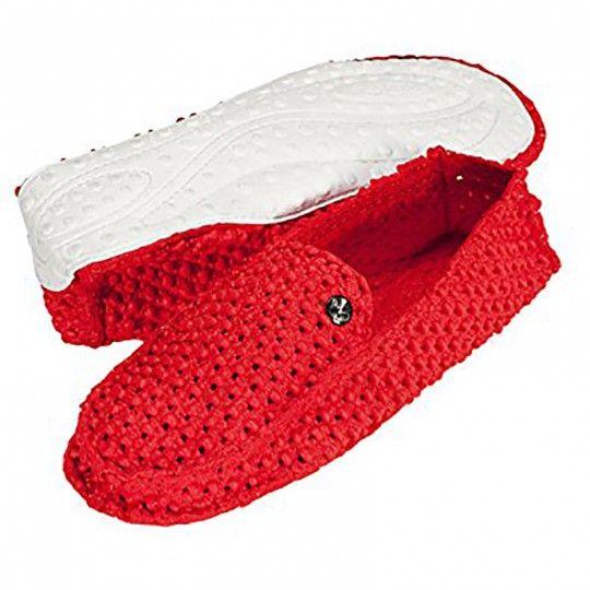 Chaussures rouge mixte - Plage, mer et bateau - Le DD