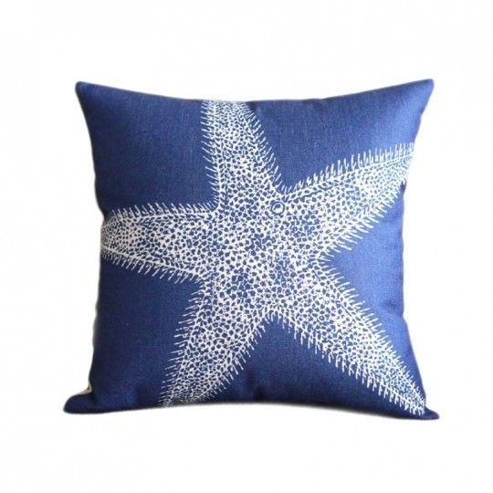 Coussin bleu étoile de mer - Canapé maison déco
