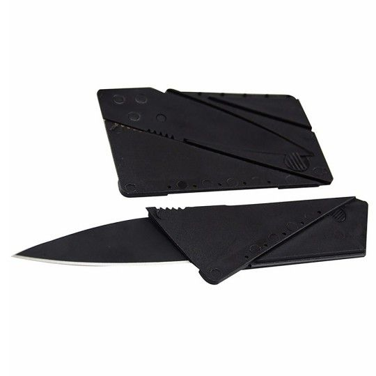 """Couteau format carte bancaire - Noir """"CDZOM"""""""