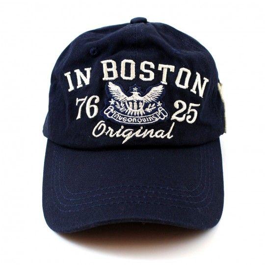 """Casquette """"Boston"""" en coton marine """"CDZOM"""""""
