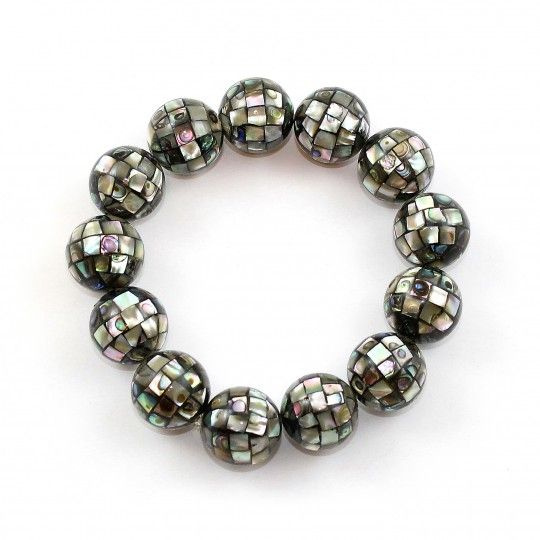 Bracelet perles Abalone