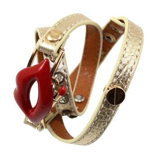 Bracelet multi-tours doré