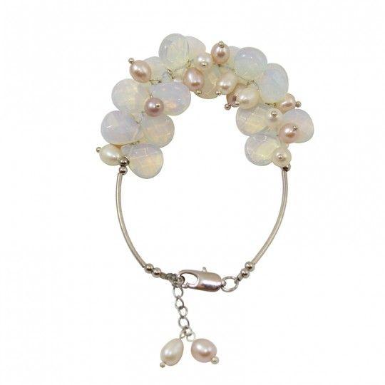 Bracelet en Opale et perles