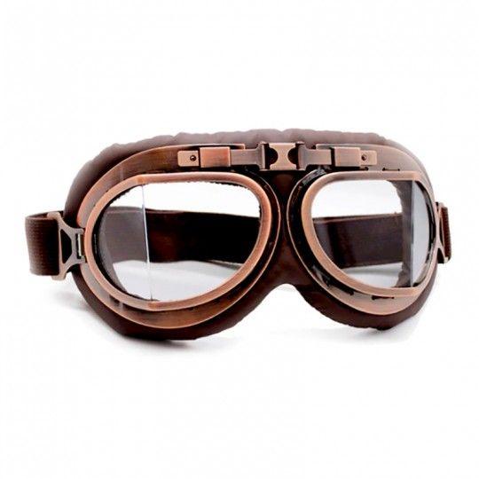 Lunettes moto Vintage / Miroir clair