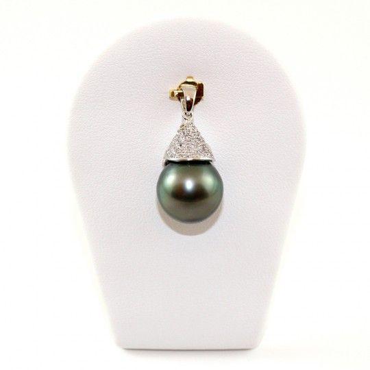 "Pendentif perle de Tahiti verte - By ""NACRE NOIRE"""