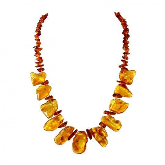 Collier pétales d'ambre