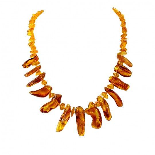 Collier en dents d'ambre