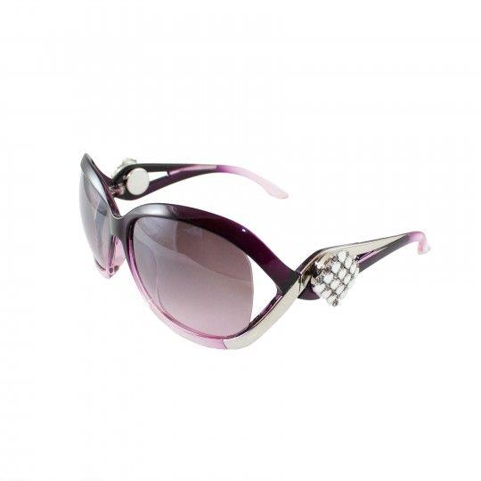 Lunettes de soleil Femme - Fumé violet
