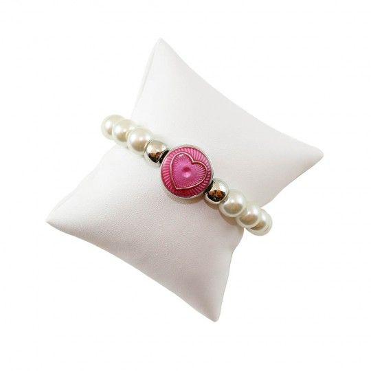 Bracelet bouton pression et perle fantaisie