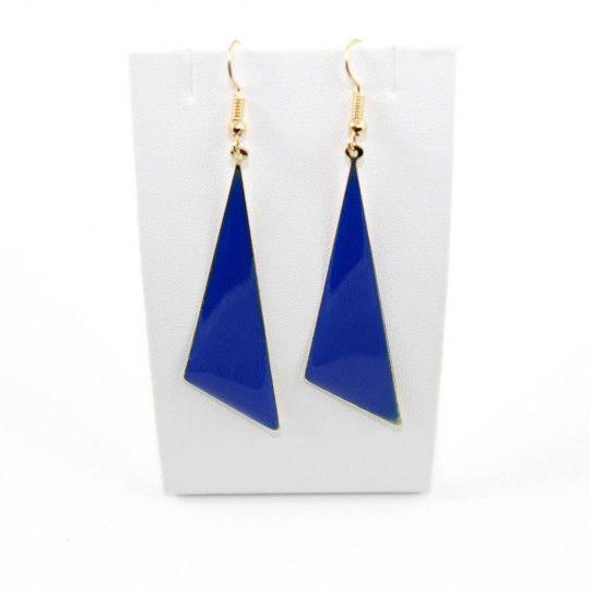 Boucles d'oreille triangle bleu
