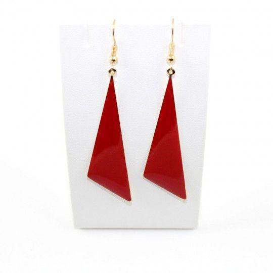 Boucles d'oreille triangle rouge