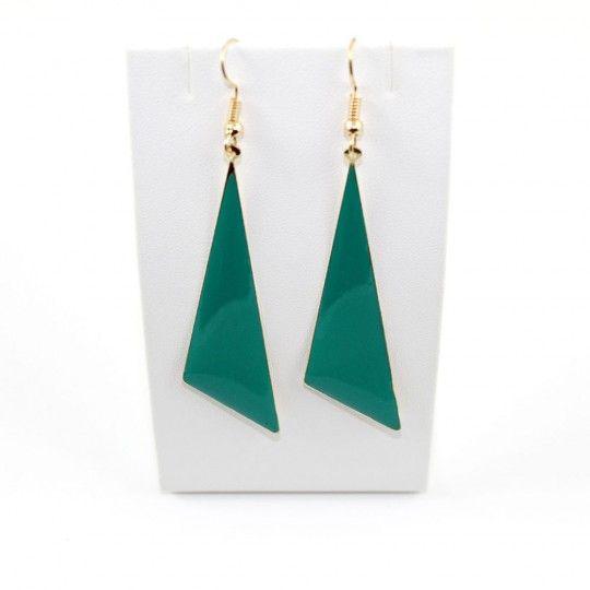 Boucles d'oreille triangle vert