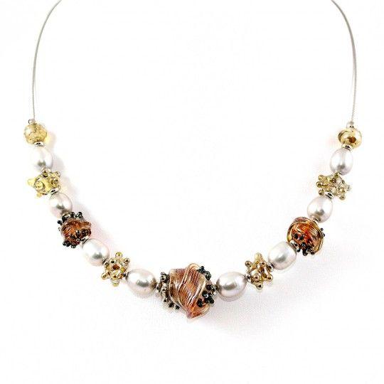 Collier Style Murano et perles