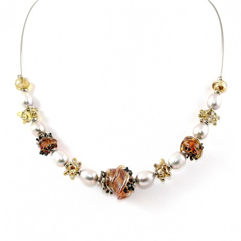 Collier Style Murano et perles