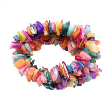Bracelet en nacre multicolore