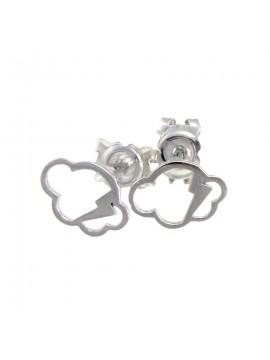 Boucles d'oreille ajourées Collection «Aurore» Or blanc