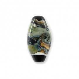 Perle plate style Murano, olive