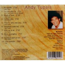 "ANDY TUPAIA CD ""Ile vanille"""