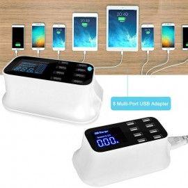 Présentoir connecteur 8 Multi-Port USB / Chargement rapide pour téléphones