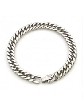 """Bracelet chaîne inoxydable mailles polies """"CDZOM"""""""