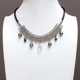Collier quatre perles de Tahiti