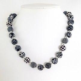 Collier perles de Polymer