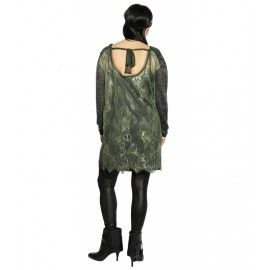 ROBE OLGA BLACK/GREEN - Zoé la Fée