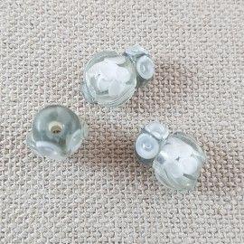 Perle hibou gris style Murano