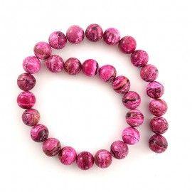 15 perles d'agate rose