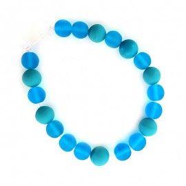 20 perles de verre turquoise et bleu