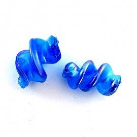 4 perles torti bleu