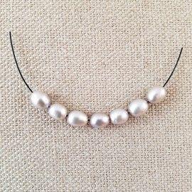 7 perles d'eau douce en forme de goutte