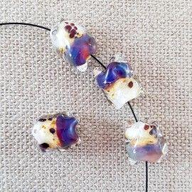Lot de 5 perles de style Murano