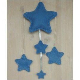 Mobile étoiles bleues