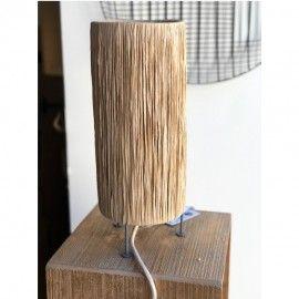 LAMPE À POSER RAPHIA NATUREL - MADAM STOLTZ