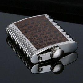 Flacon de poche à alcool en acier inoxydable