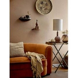 LAMPE DE SALON TERRACOTTA & LIN NATUREL